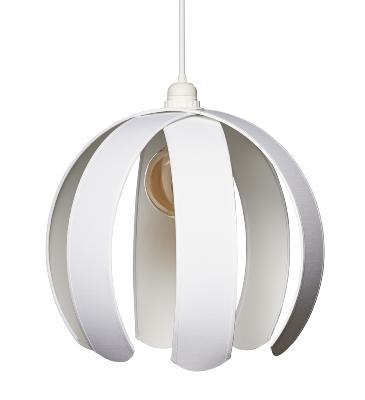 Suspension demi-boule envergure 36 cm coloris blanc